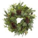 "24"" MIXED PINE AND CONE WREATH"