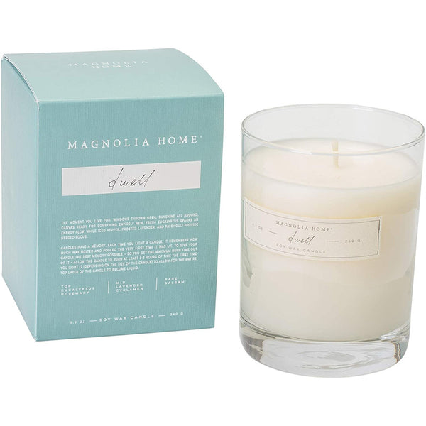 Fresh eucalyptus sparks an energy flow while iced pepper, frosted lavender, and patchouli provide needed focus. This simple candle is a fan favorite. Put it anywhere and everywhere in your home.  Burn time 25 hours.