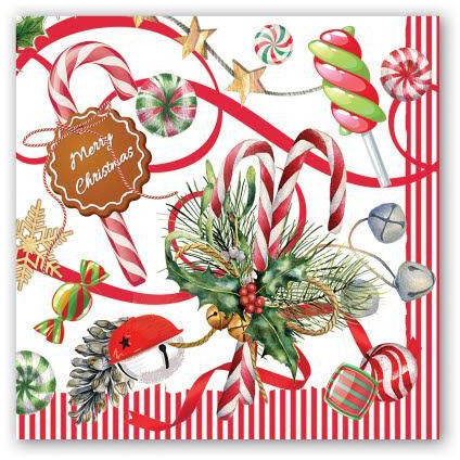 PEPPERMINT LUNCHEON NAPKIN