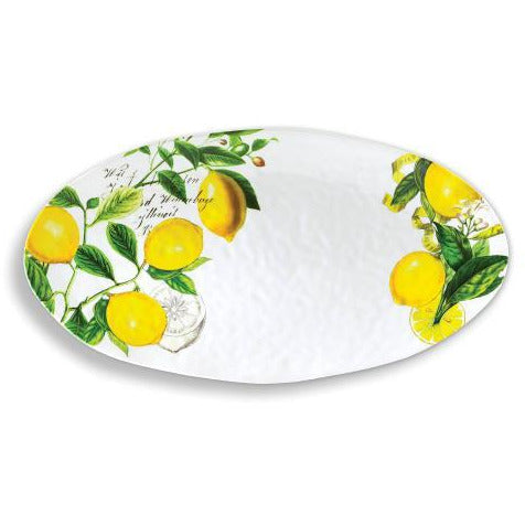 LEMON BASIL  OVAL PLATTER