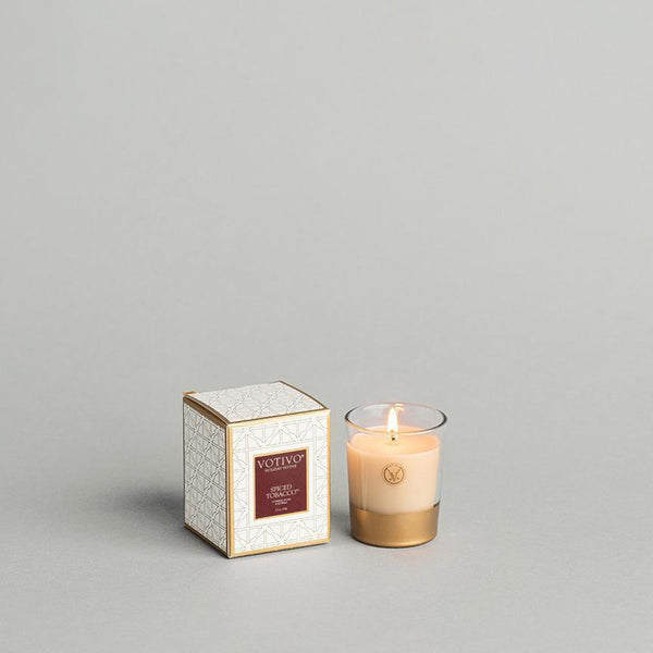 2.1 OZ SPICED TOBACCO HOLIDAY VOTIVE CANDLE
