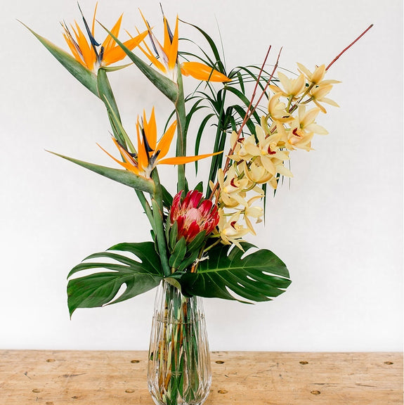 Vase Arrangement Tropical Designers Choice
