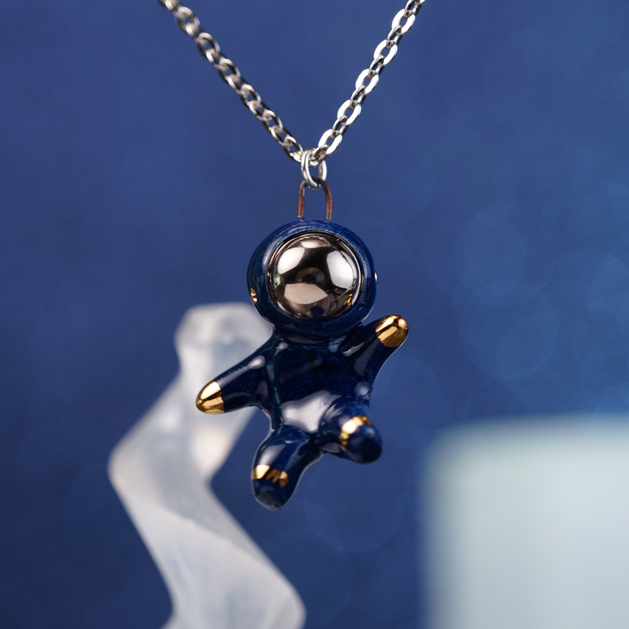 Floating Astronaut Necklace