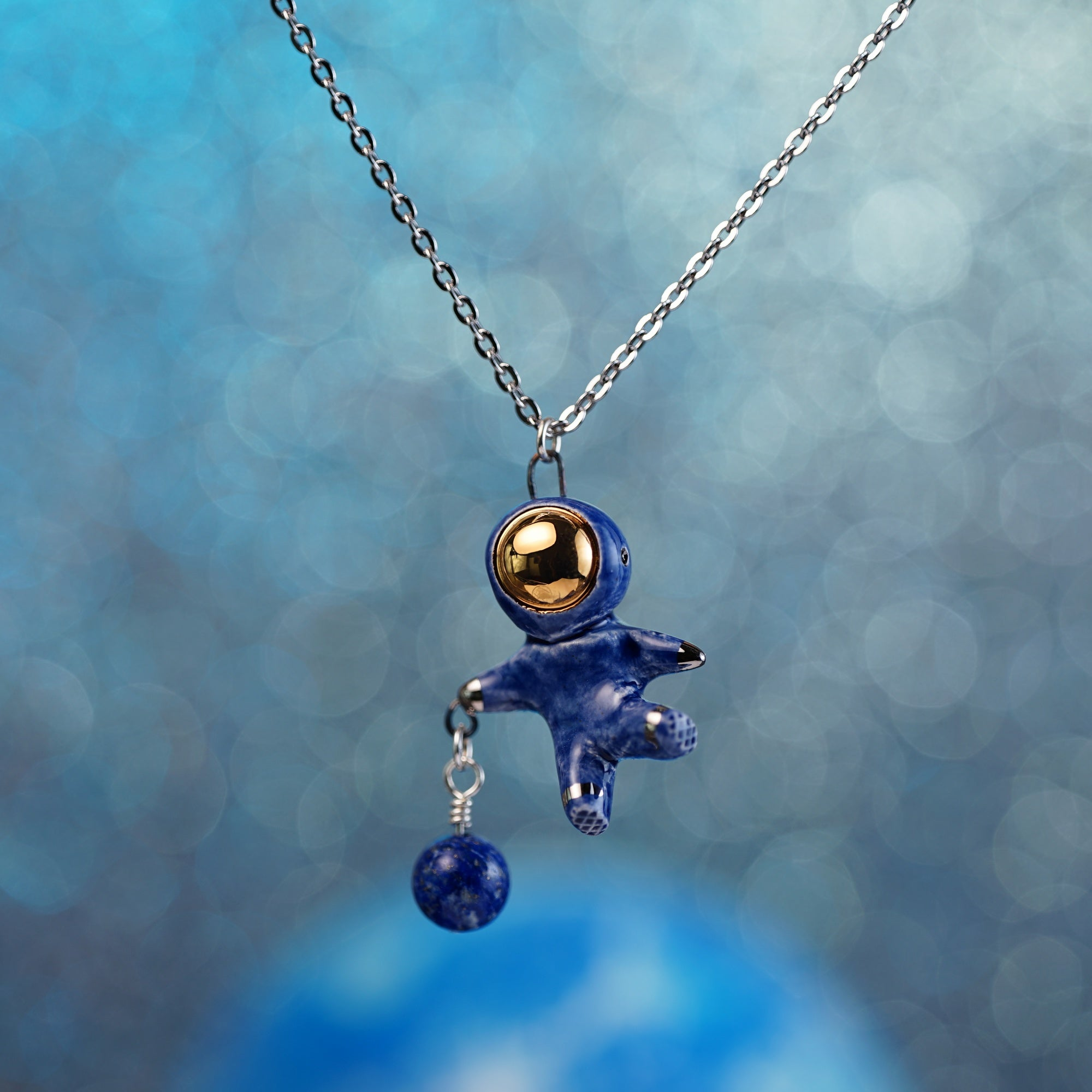 Charm Astronaut Necklace