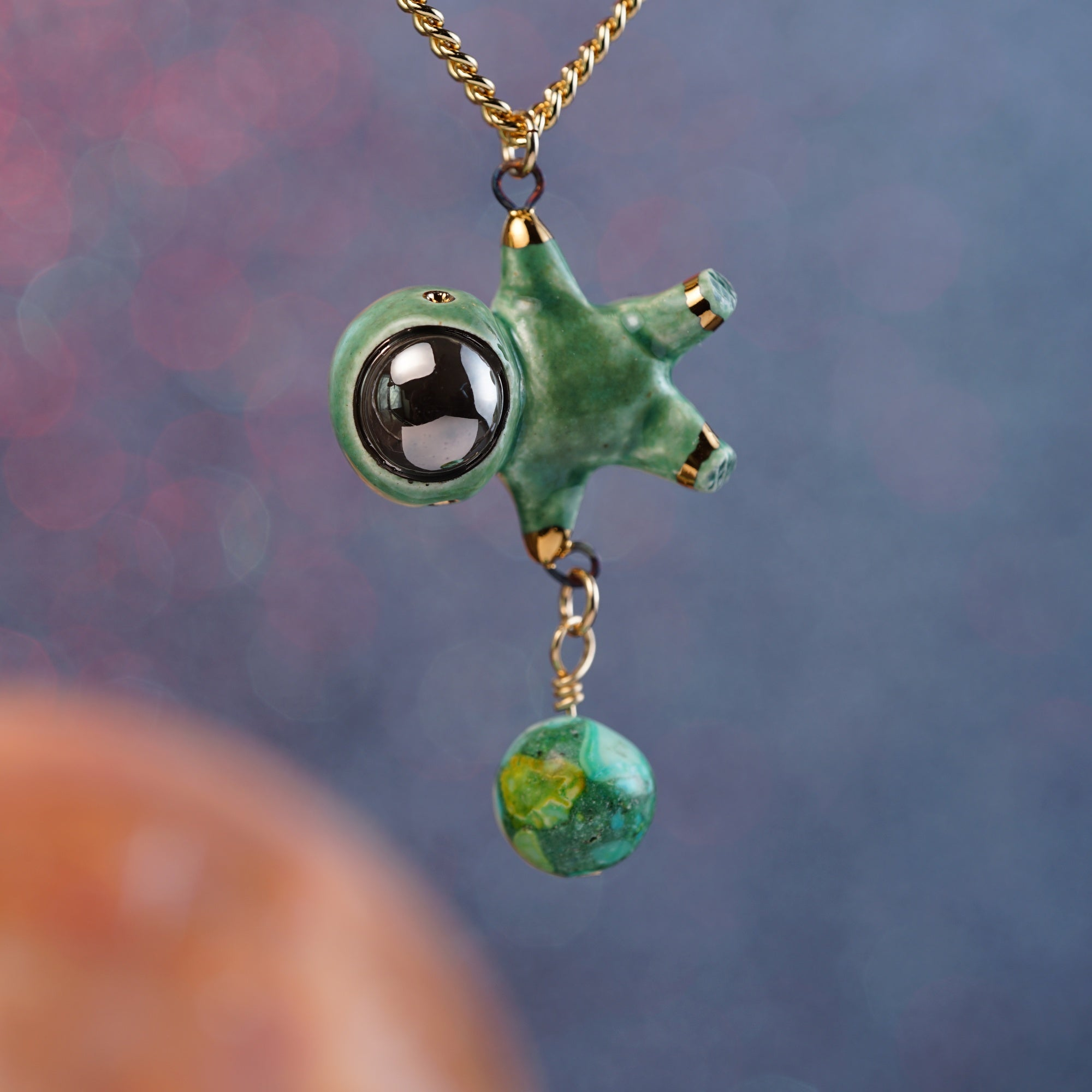 Floating Charm Astronaut Necklace