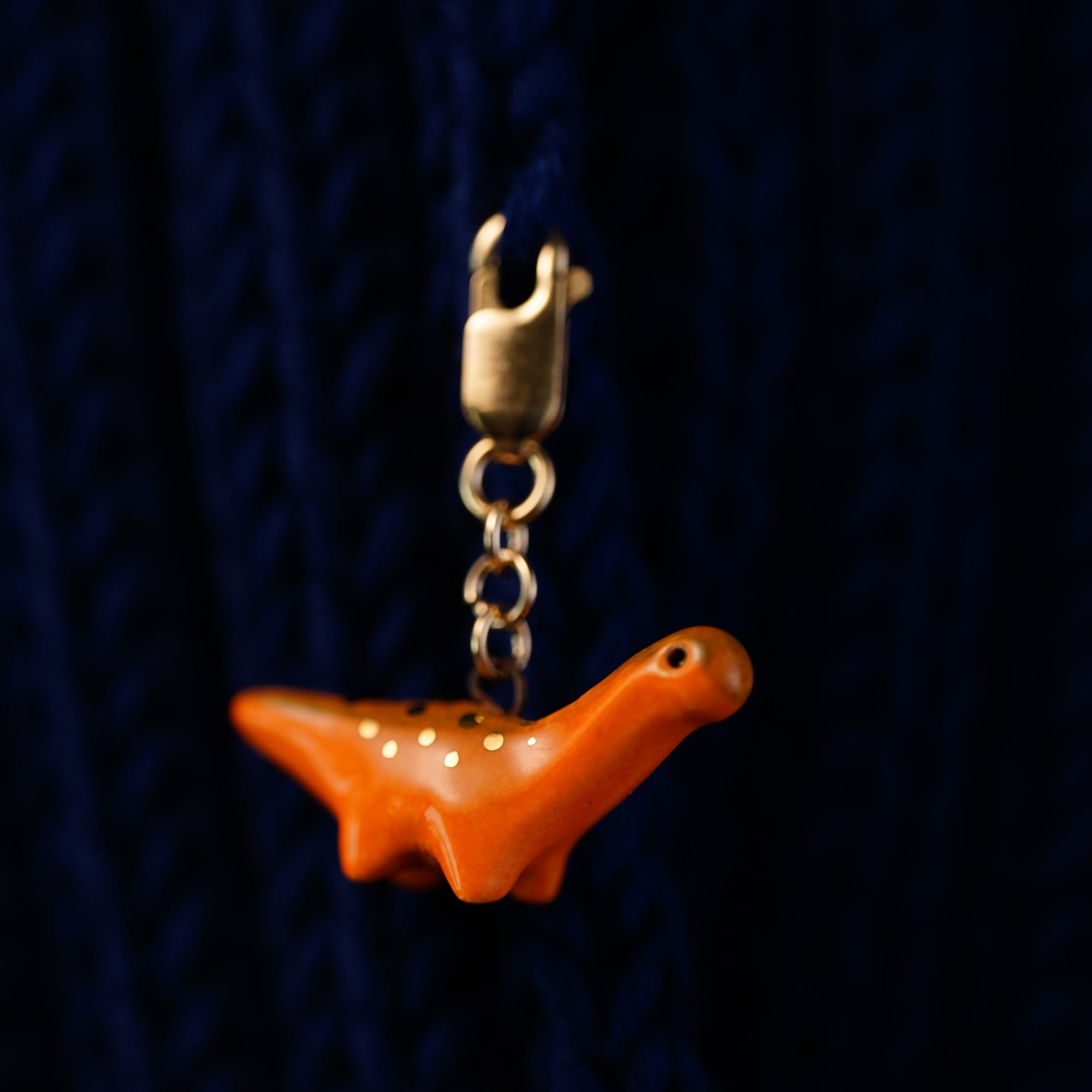 Tiny Dinosaur Stitch Marker