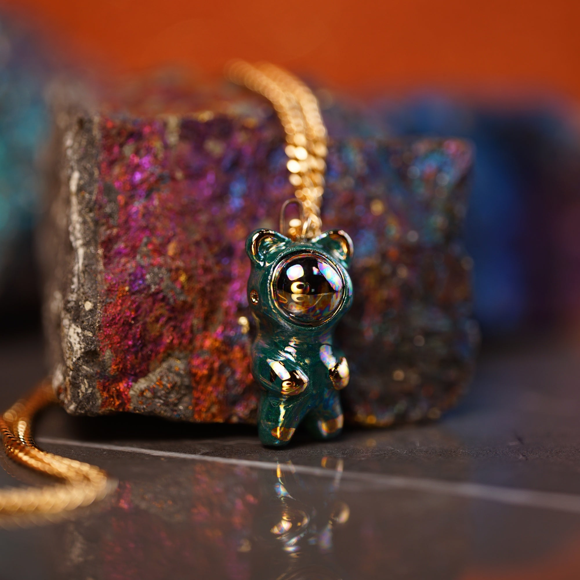 Rainbow Bearnaut Necklace