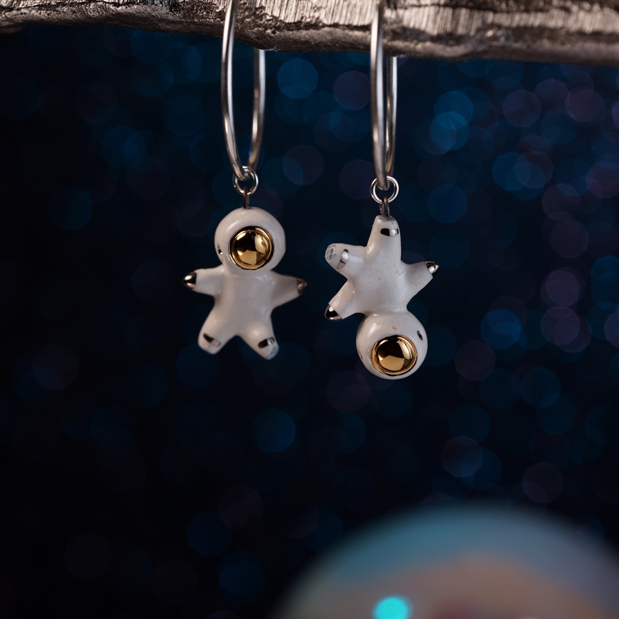 Floating Astronaut Earrings
