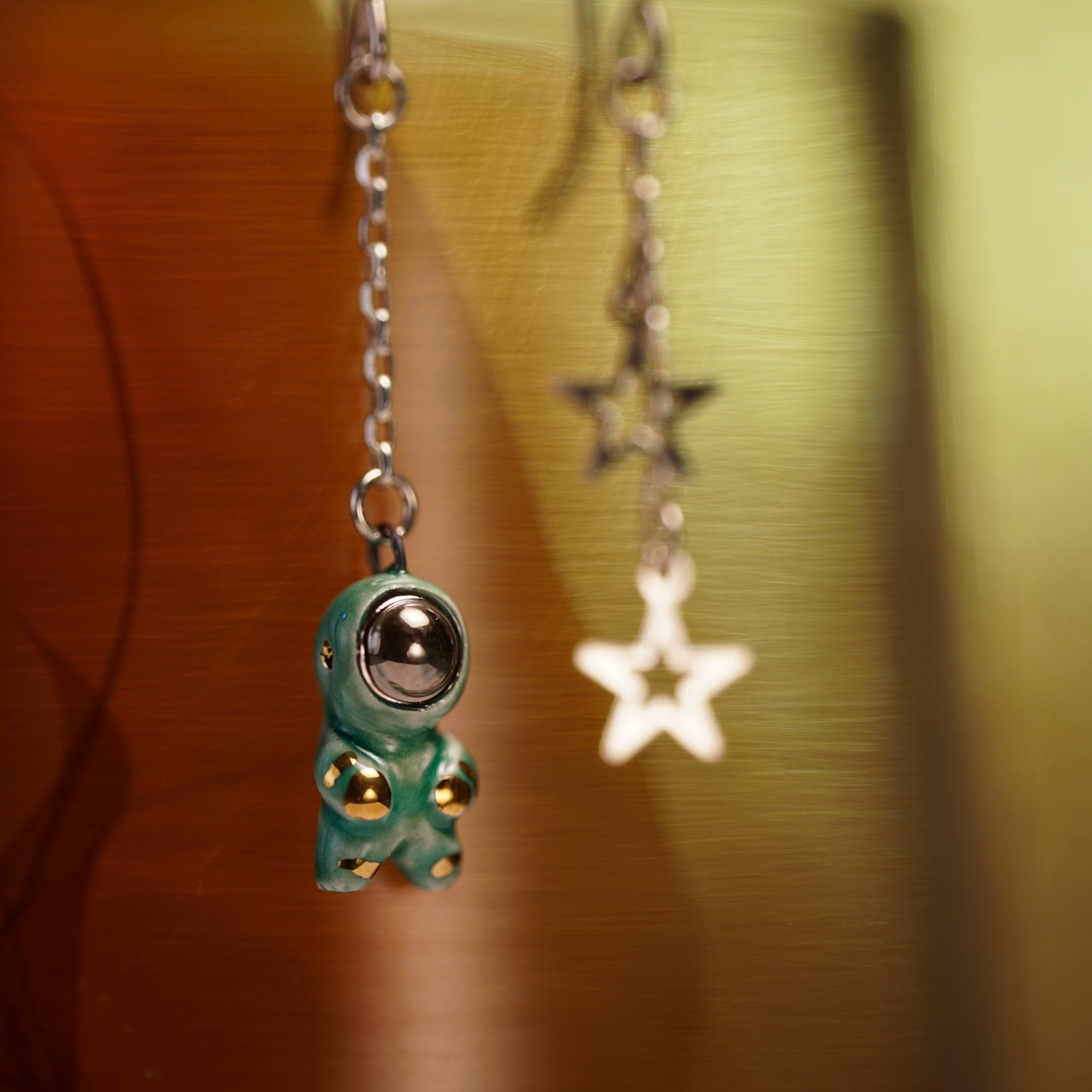 Astronaut with Stars Earrings
