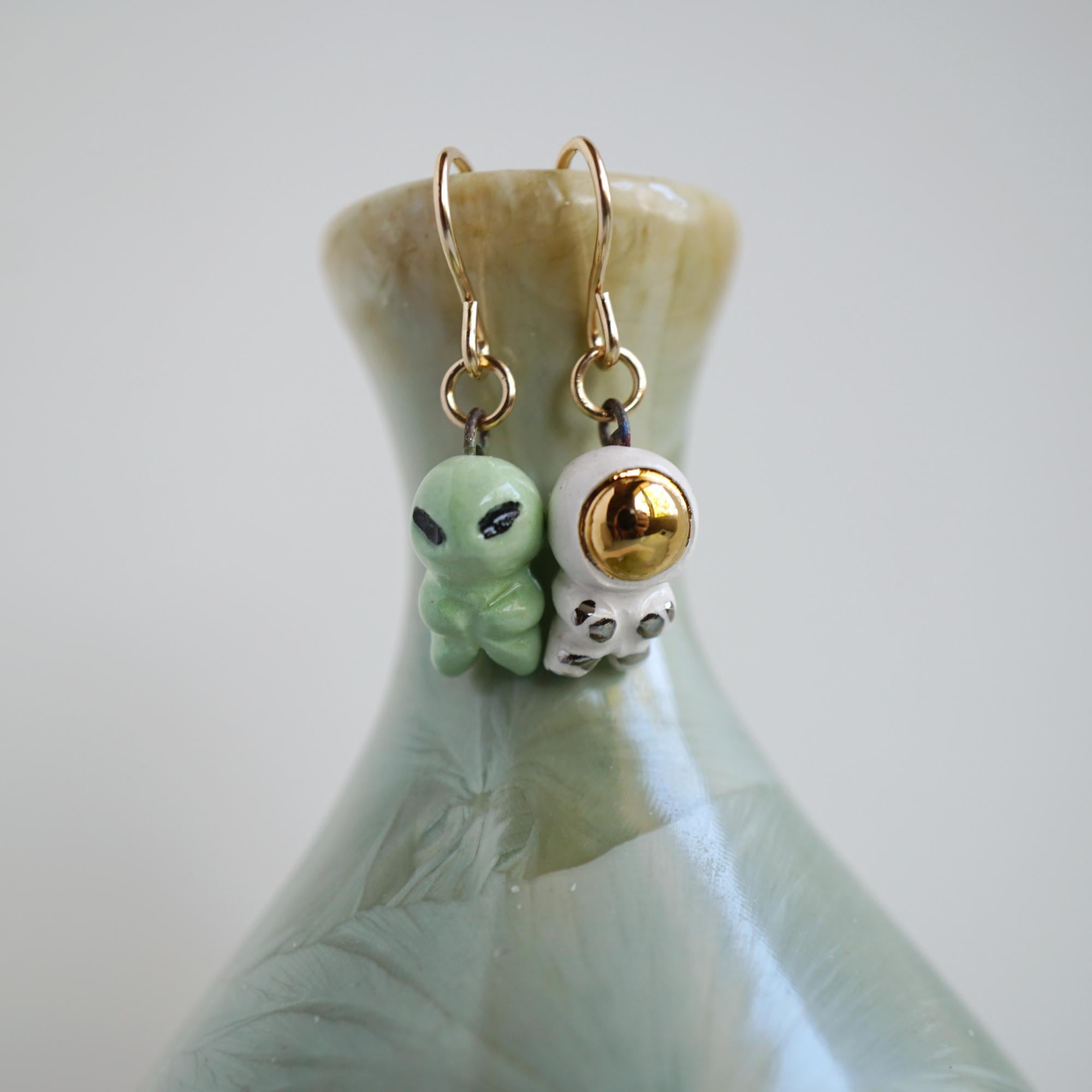 Astronaut and Alien Earrings