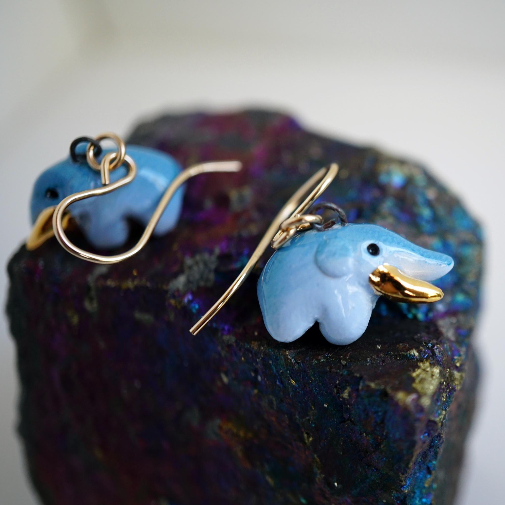 Tiny Mastodon Earrings