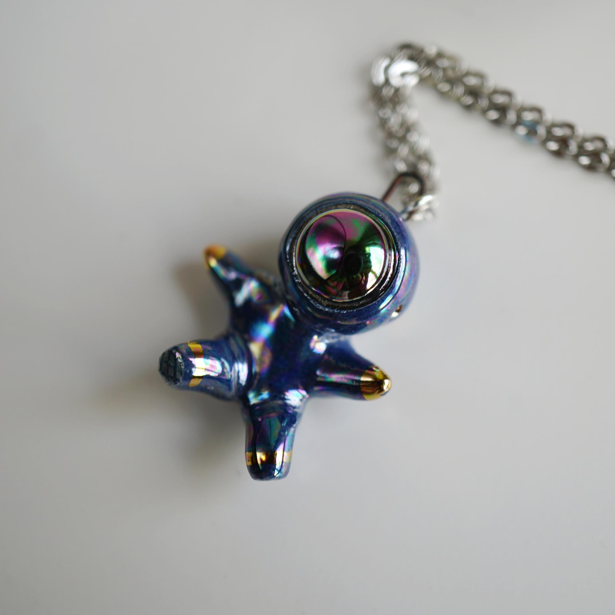 Rainbow Floating Astronaut Necklace
