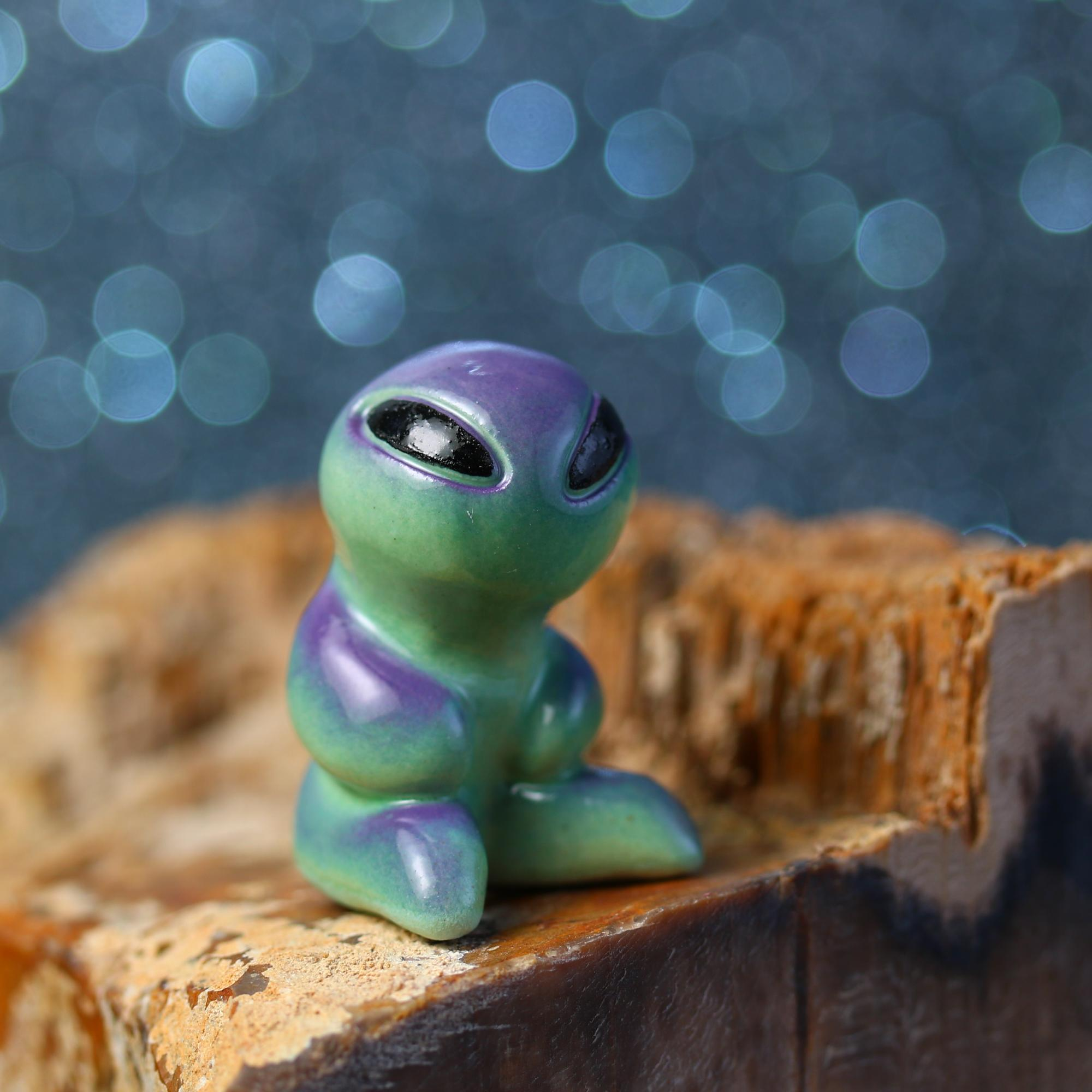 Little Sitting Alien Figurine