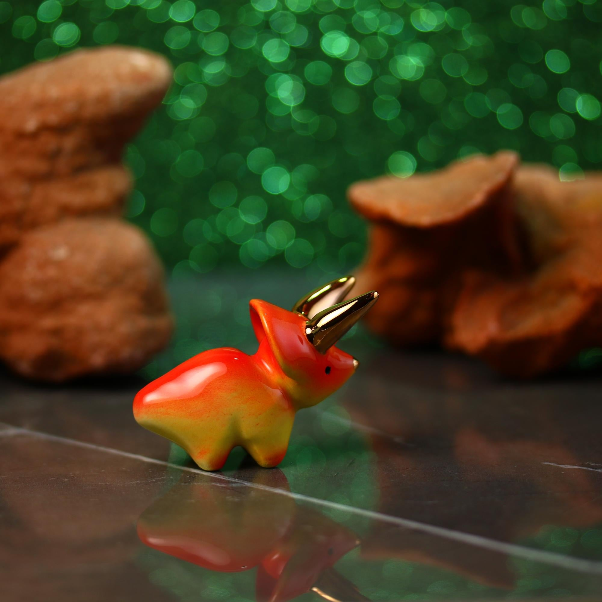 Little Triceratops Figurine