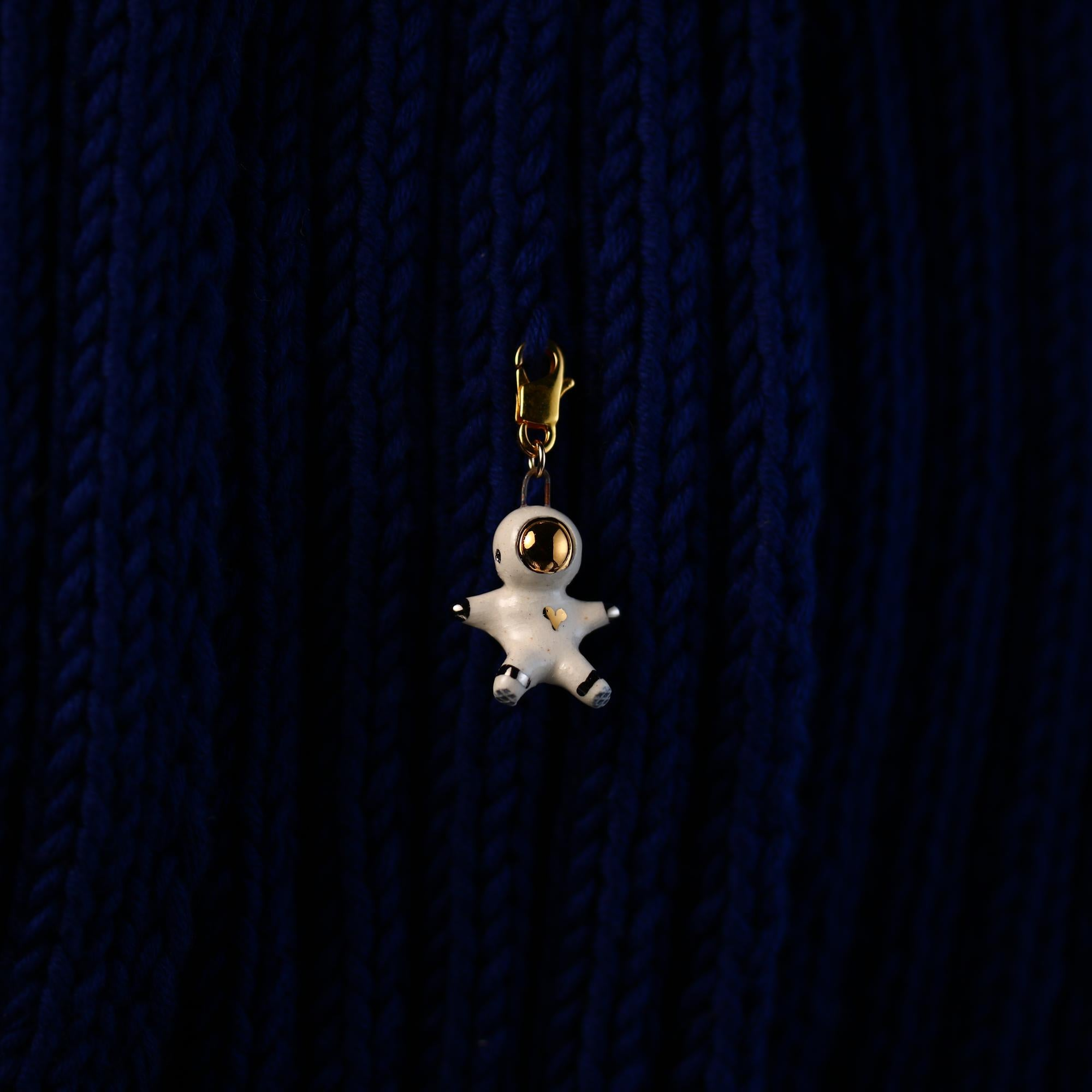 Floating Heart Astronaut Stitch Marker