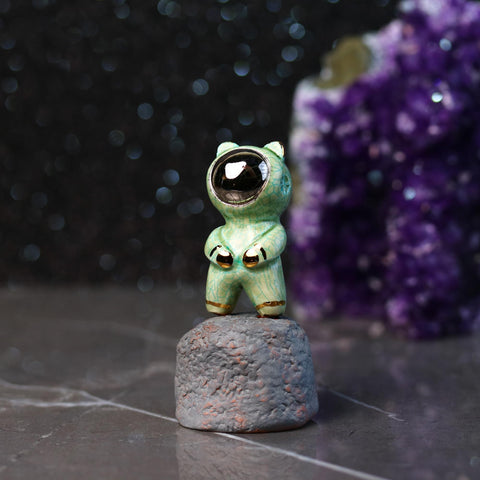 Crackled Bearnaut Figurine
