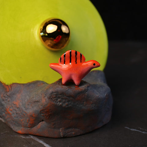 UFO Crash with Dimetrodon Incense Burner