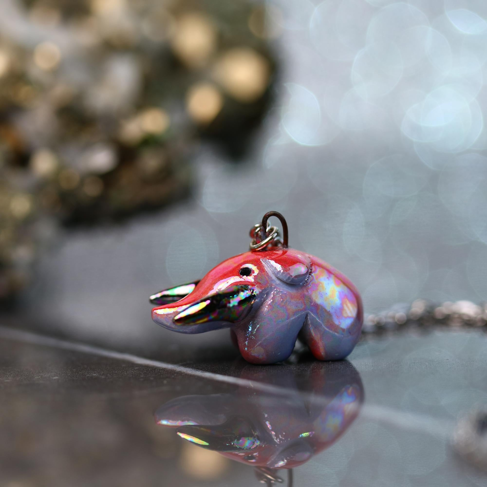 Tiny Rainbow Mastodon Necklace