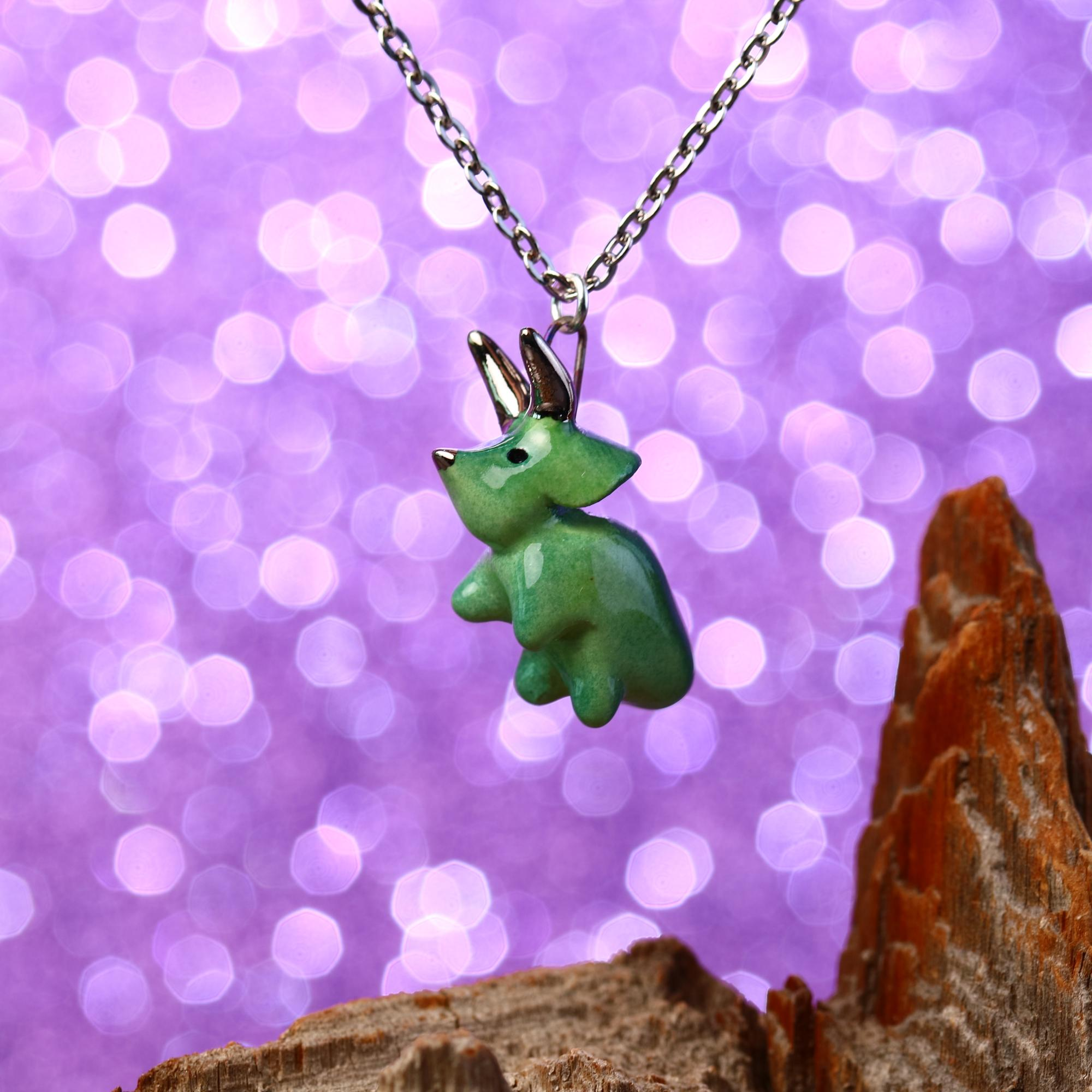 Dancing Triceratops Necklace