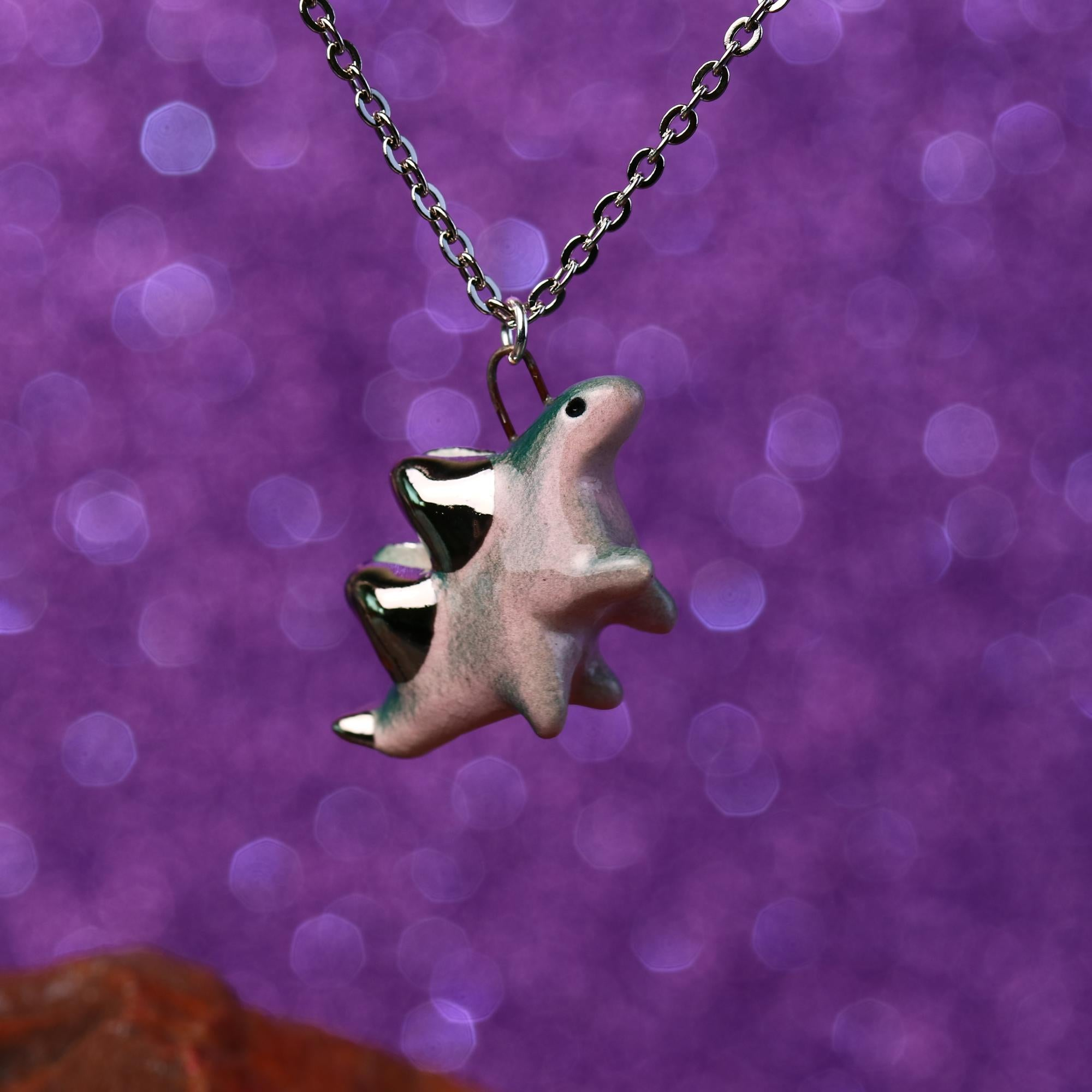 Dancing Stegosaurus Necklace