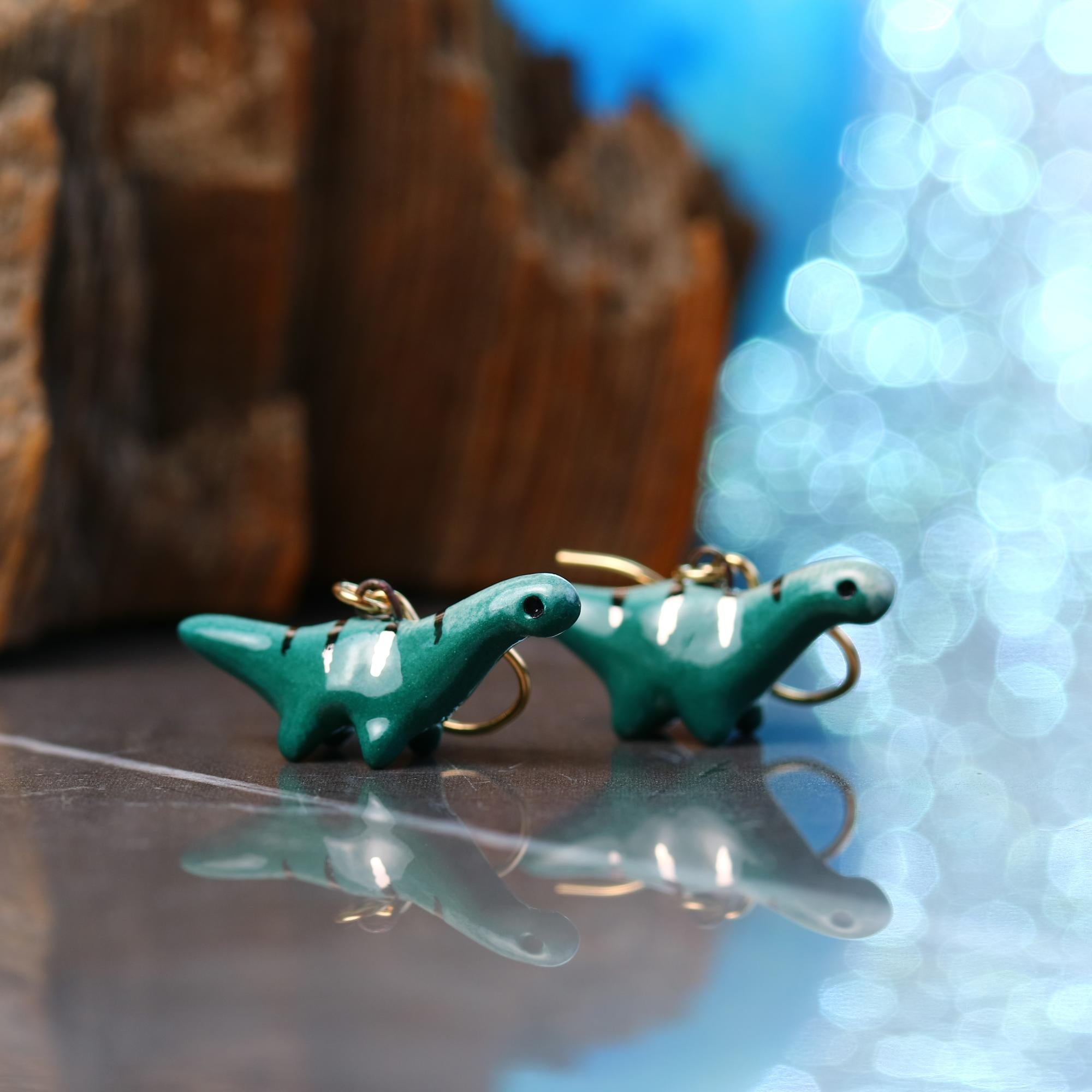 Tiny Dinosaur Earrings