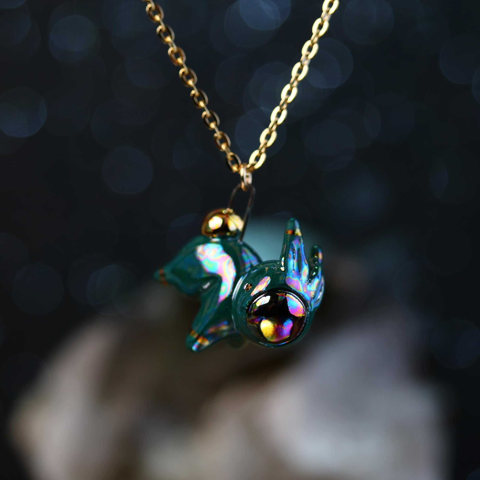 Rainbow Bunnynaut Necklace