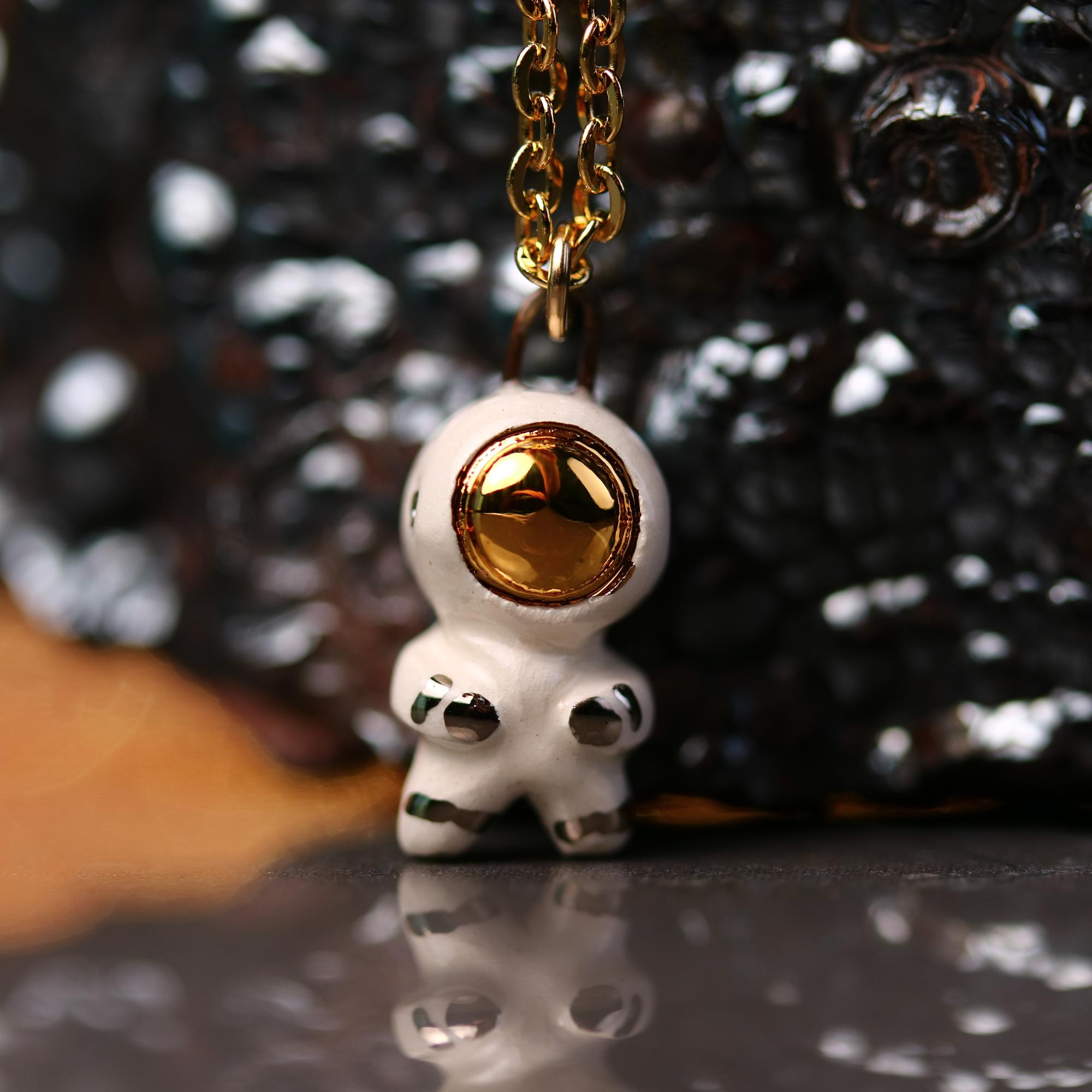 Tiny Astronaut Necklace