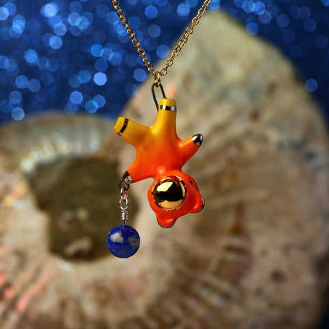 Floating Planet Charm Bearnaut Necklace