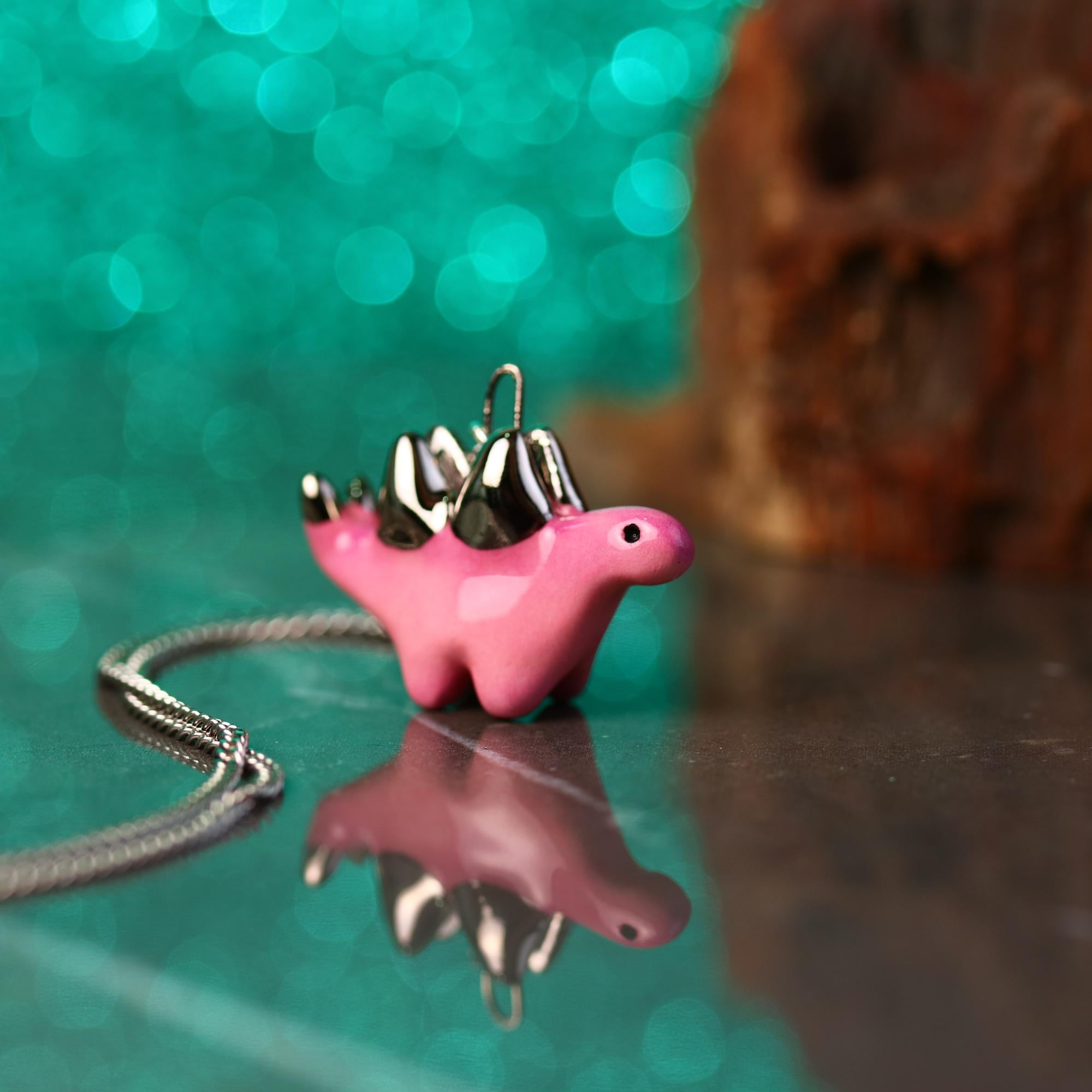 Little Stegosaurus Necklace