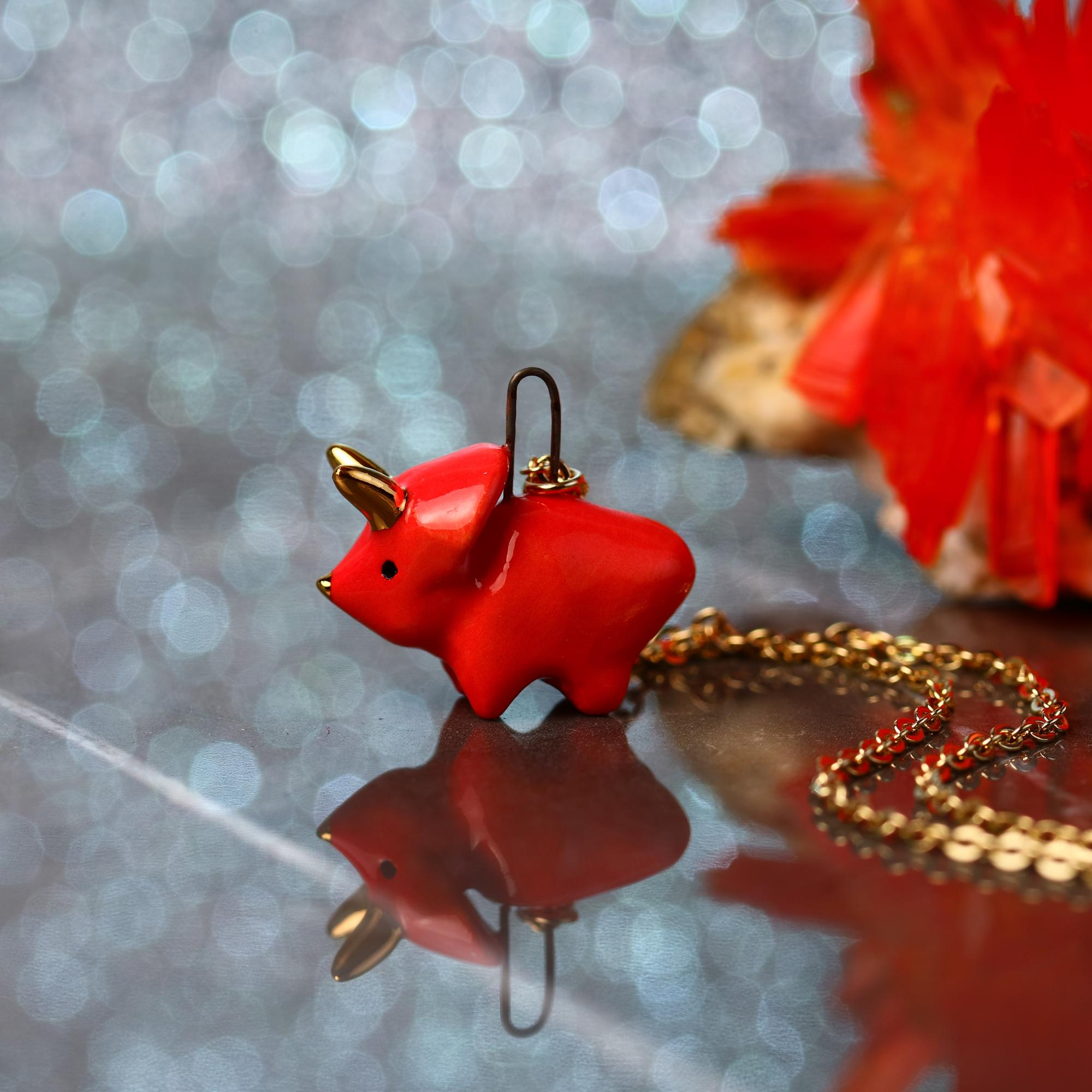 Tiny Triceratops Necklace