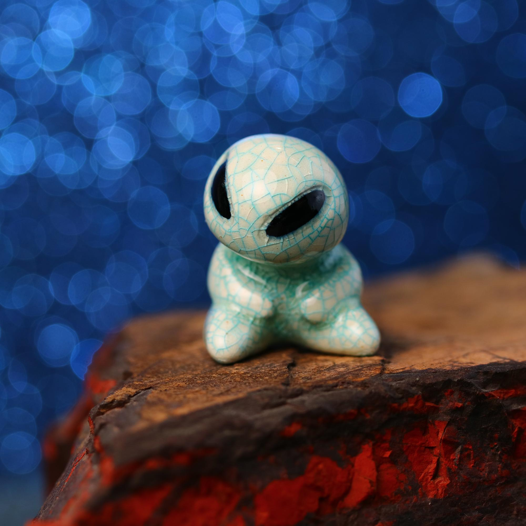Sitting Alien Figurine