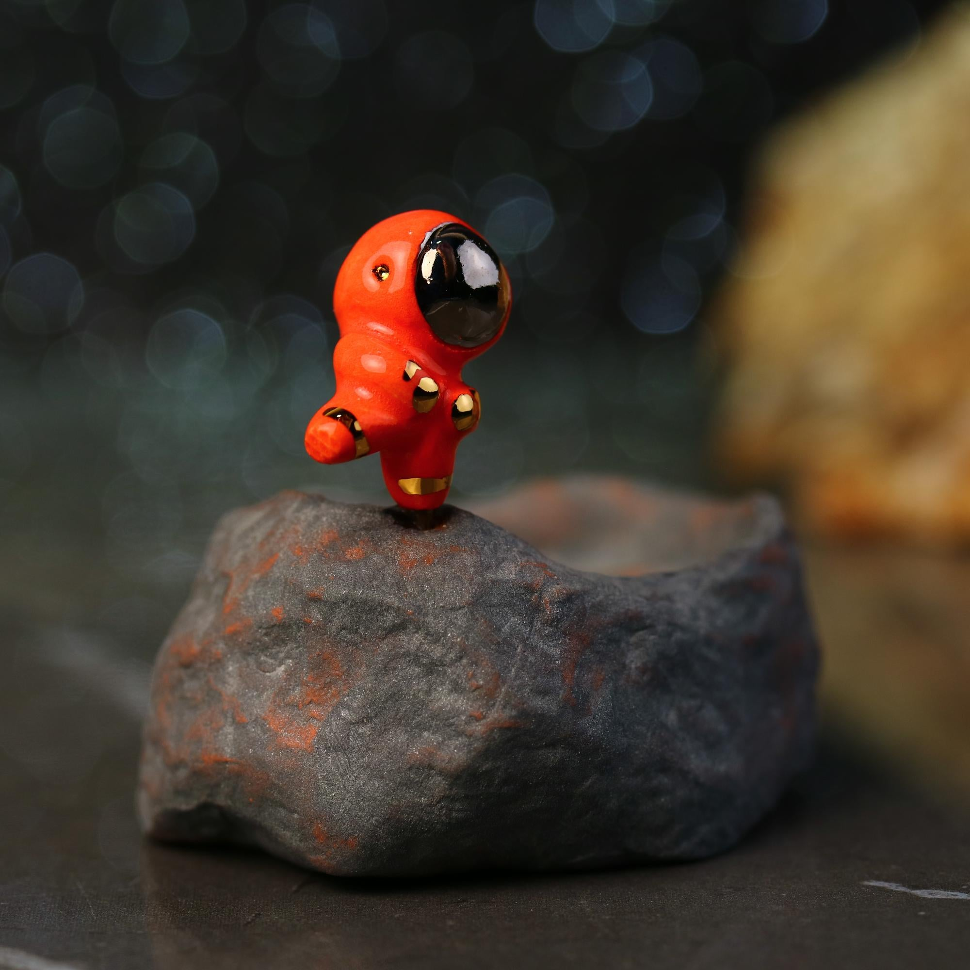 Tiny Astronaut Incense Burner