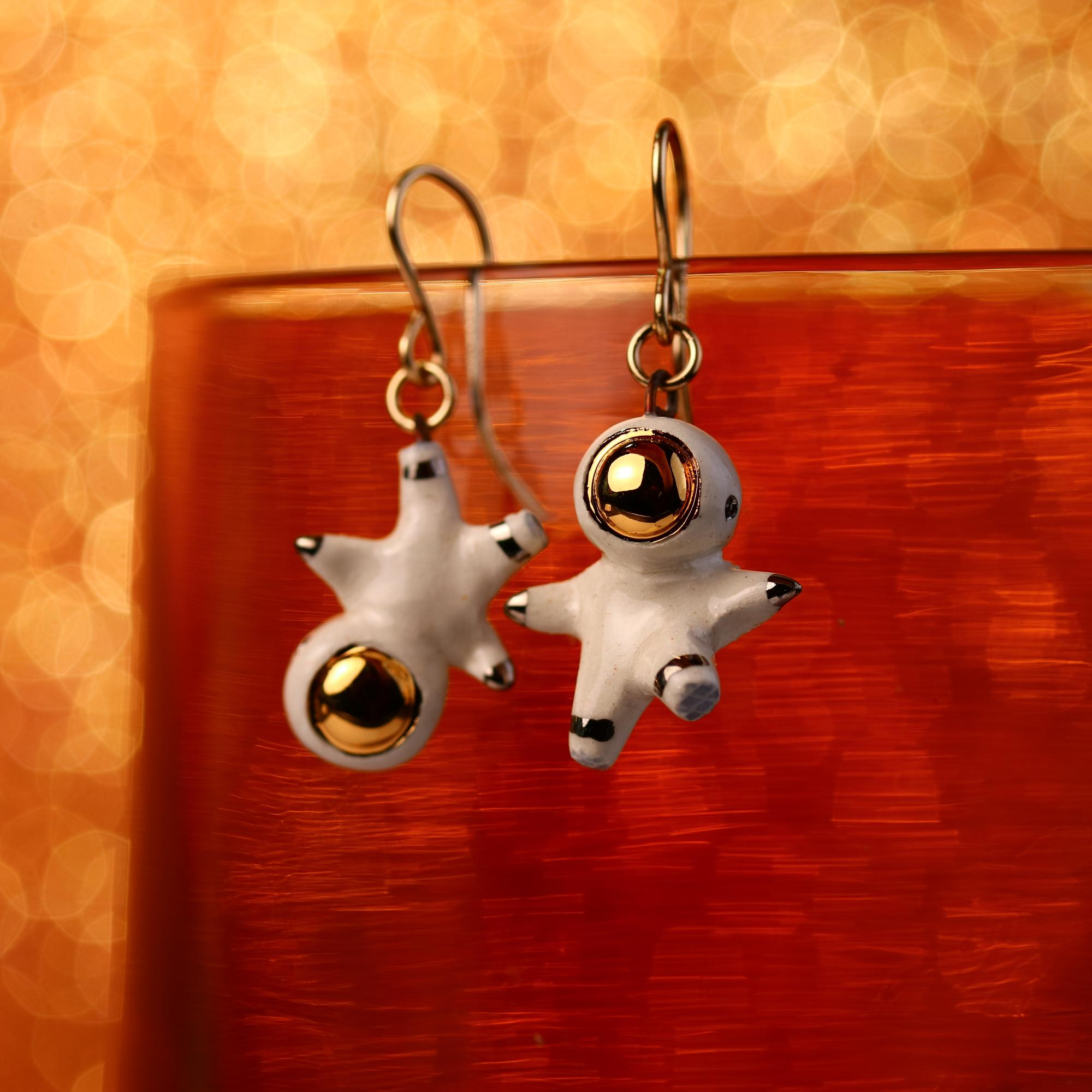 Tiny Astronaut Earrings