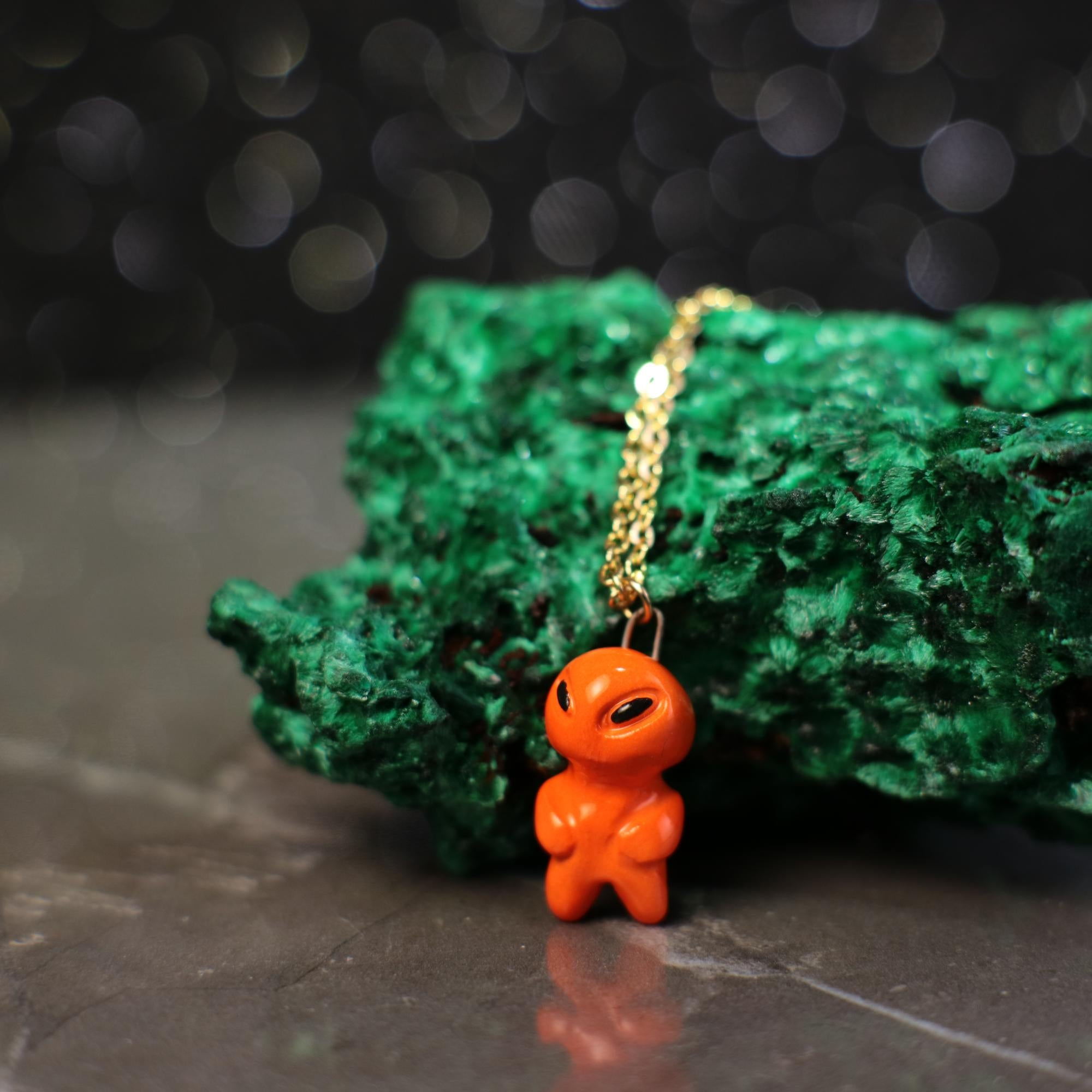 Tiny Alien Necklace