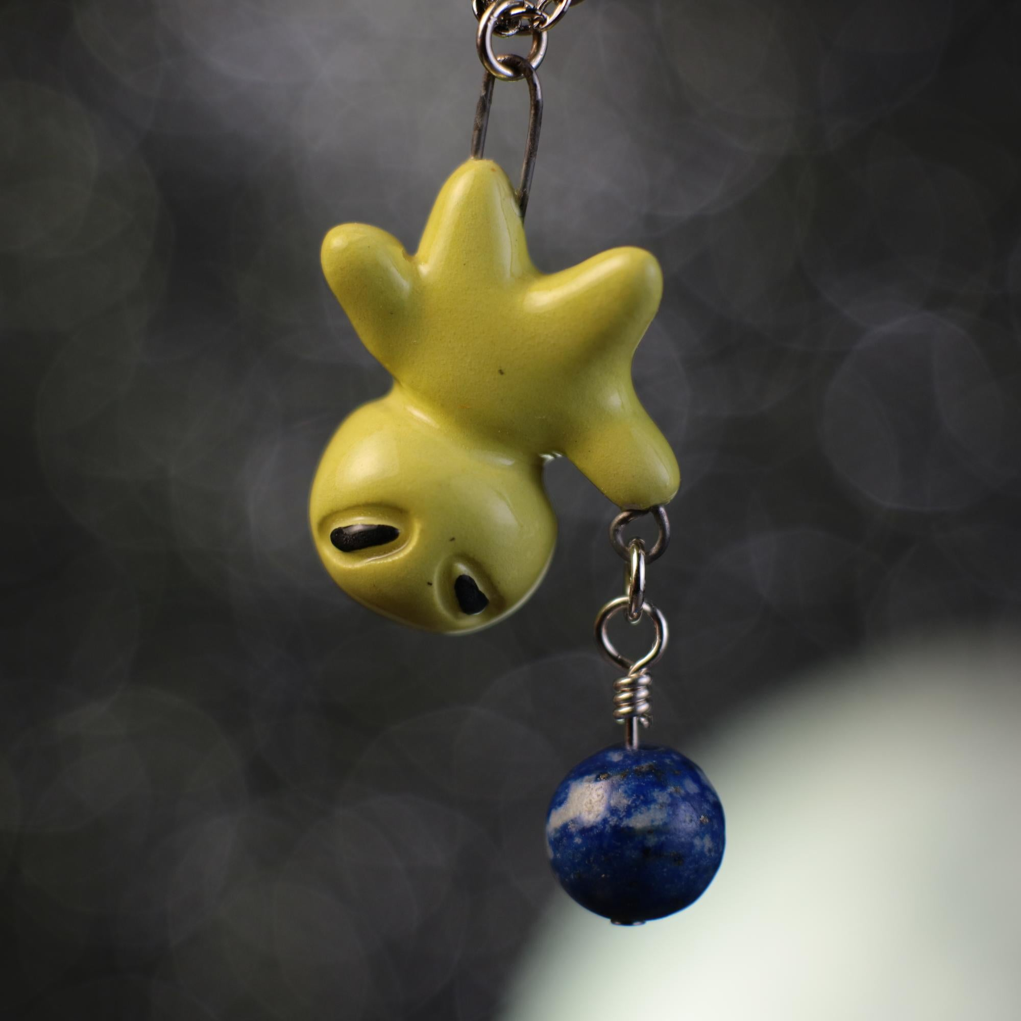 Floating Planet Charm Alien Necklace