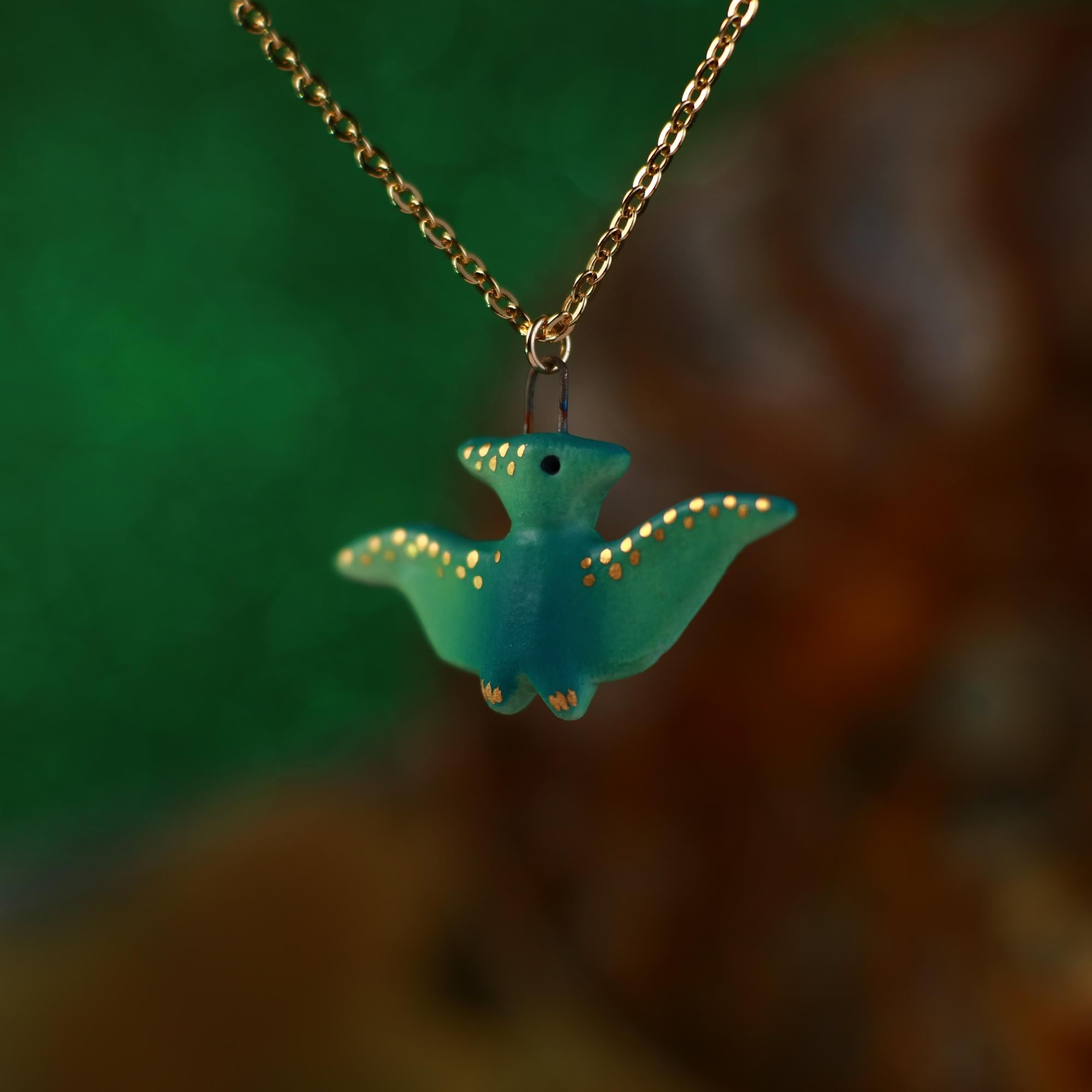 Tiny Pterodactyl Necklace