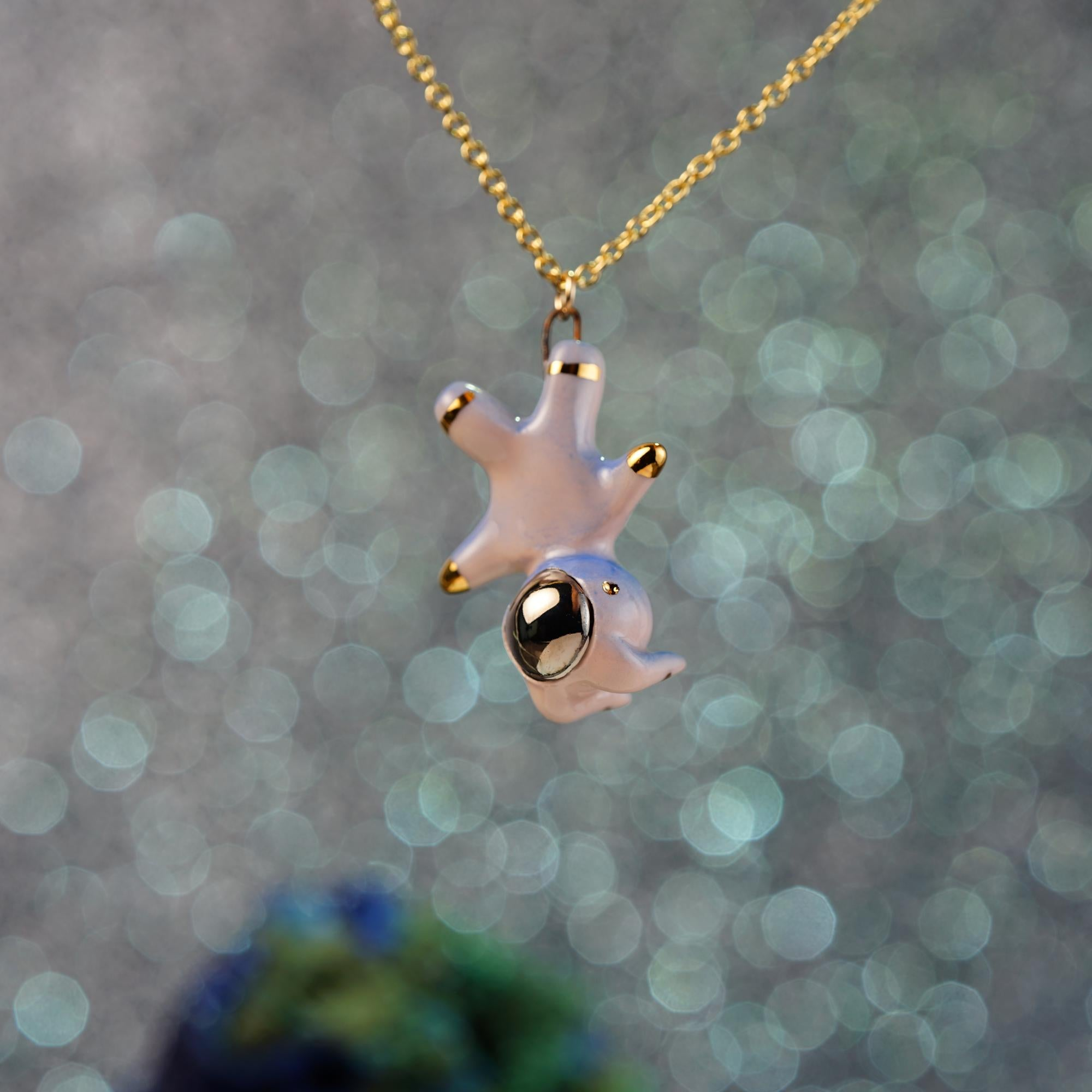 Floating Bunnynaut Necklace