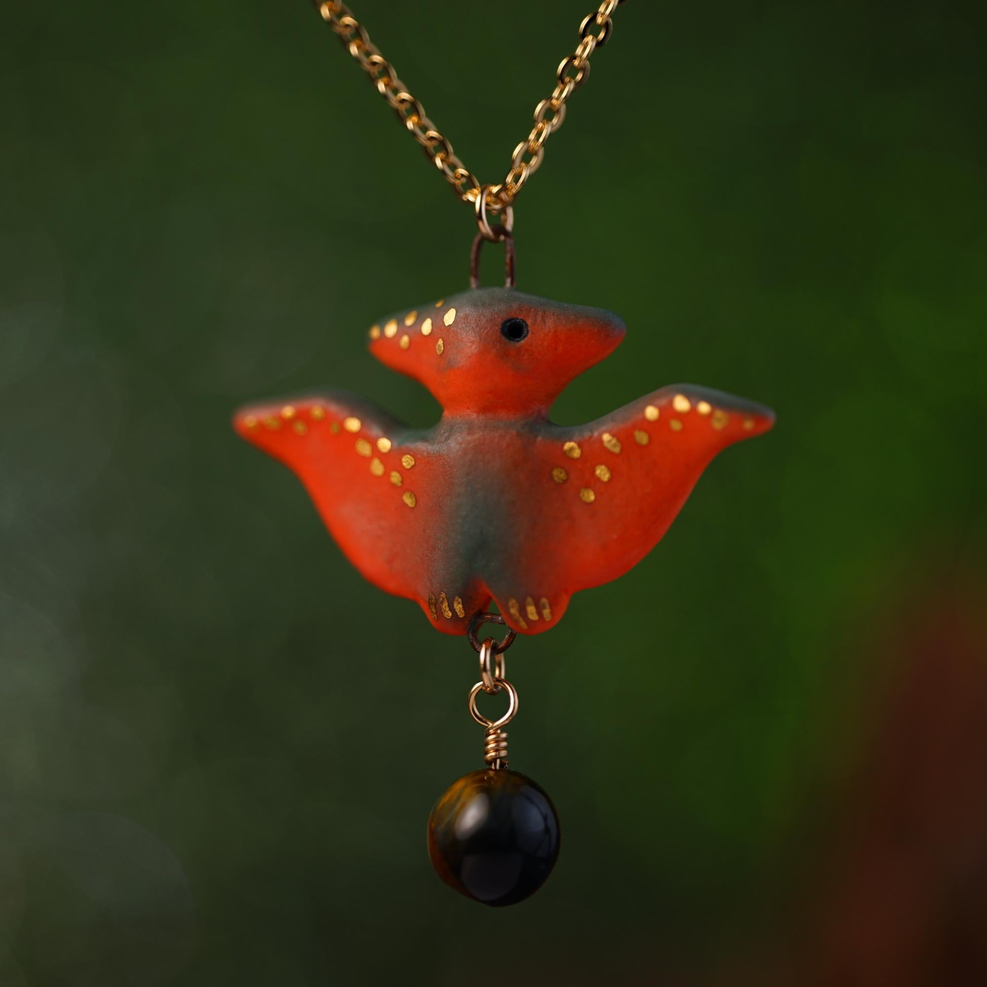 Charm Pterodactyl Necklace