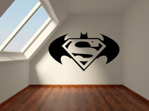 SUPERMAN VS BATMAN LOGO MOVIE FILM TEENS GIRLS BOY Vinyl Wall art Stickers Decal & SUPERMAN VS BATMAN LOGO MOVIE FILM TEENS GIRLS BOY Vinyl Wall art ...
