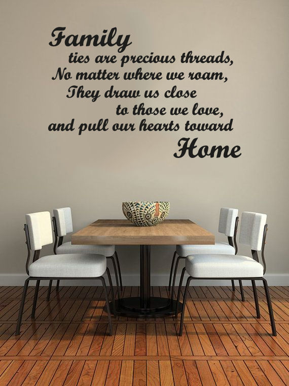 Family ties are precious threads quote murals vinyl wall art stickers decals