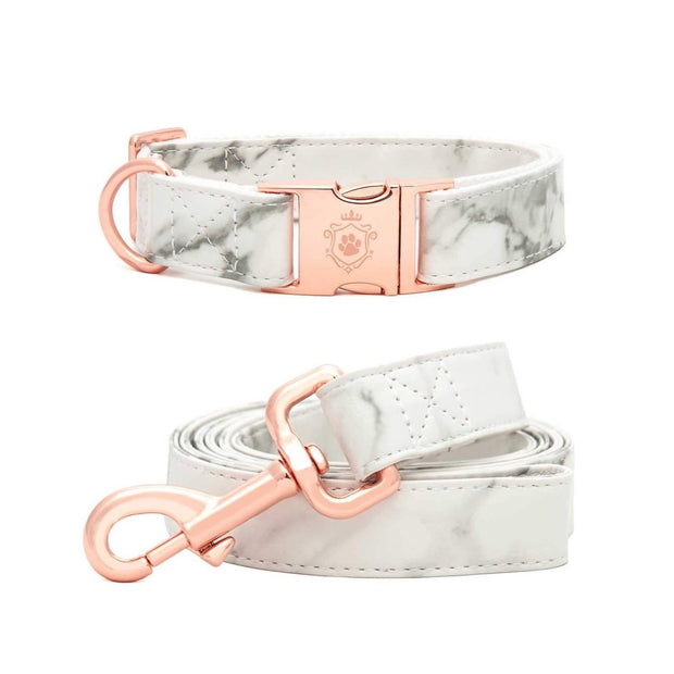 Marble Deluxe Collar & Leash Set