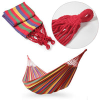 Portable Cotton Rope Outdoor Hanging Hammock Canvas Bed