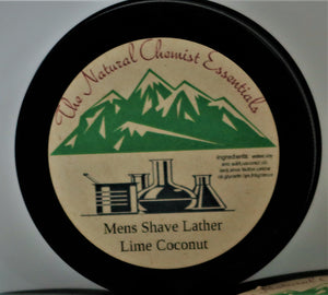 Mens shave lather-  lime coconut