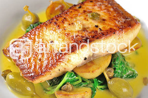ID 109  Grilled Salmon with Olives - Artandstock