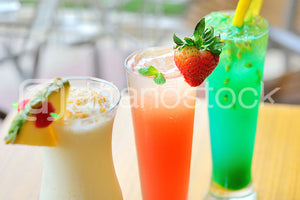 ID 126  Lemon, Strawberry, Pineapple Fruit Juices - Artandstock