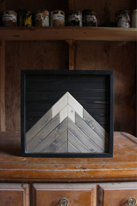 Mountain Art // Black, Grey, Natural