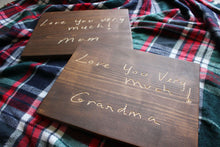 Load image into Gallery viewer, Carved Handwritten Sign // Custom Keepsake