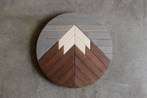 Mountain Round // Grey, Brown, Natural