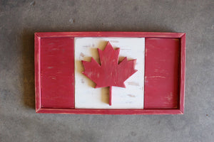 Rustic Canadian Flag