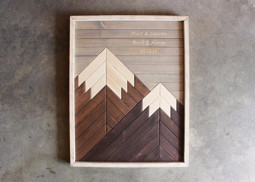 Revell Mountain // Custom Engraving // Farmhouse Color Palette